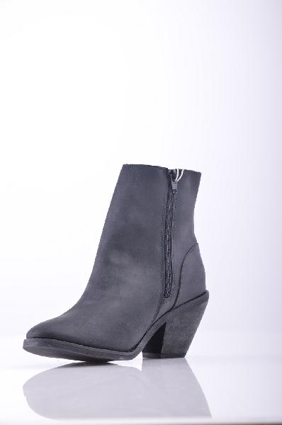 женские полусапожки на каблуке jeffrey campbell, черные