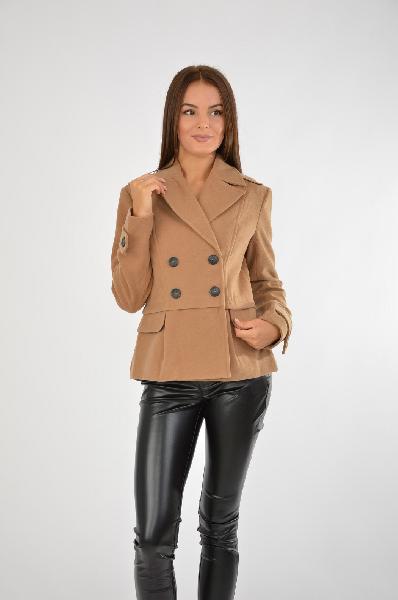 женское пальто people, коричневое