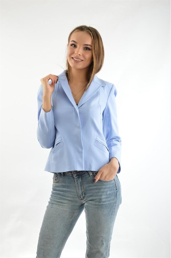 женский пиджак bgn, голубой