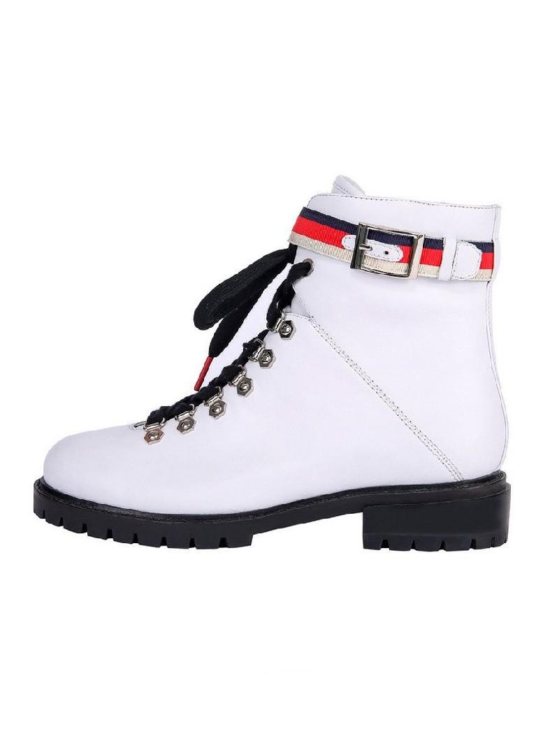женские ботинки на каблуке mons&orro, белые