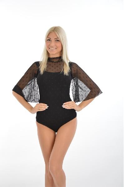 Купить Боди-блузка Viva Donna, VIVA LA DONNA, РОССИЯ, Черный, Вискоза, МУЛЬТИ, Весна-лето