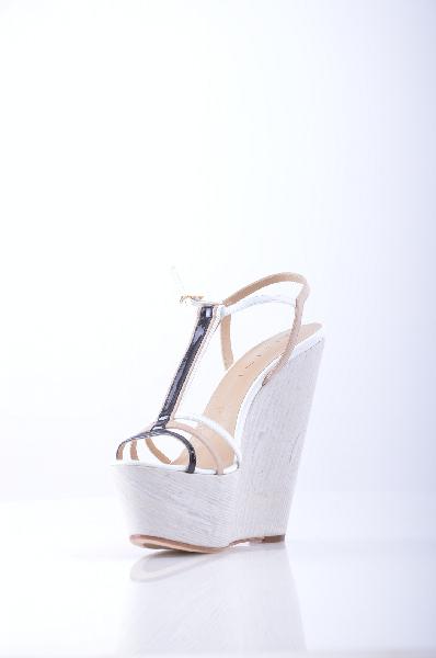 женские босоножки на каблуке vicini, белые
