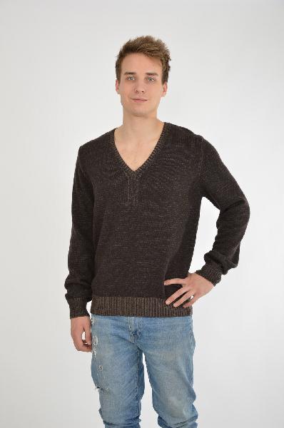 мужской свитер guess by marciano, коричневый