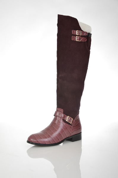женские сапоги на каблуке vitacci, бордовые