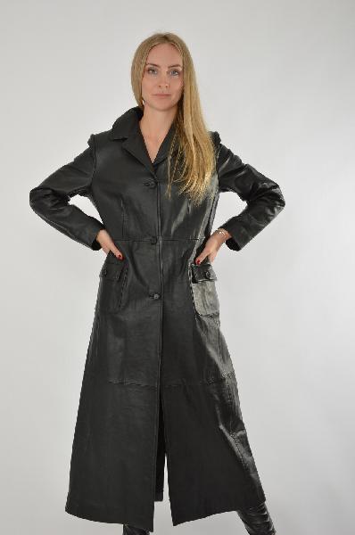 Купить Пальто Tendance Cuir, ФРАНЦИЯ, Черный, Натуральная кожа, ВЕСНА/ОСЕНЬ, Осень-зима