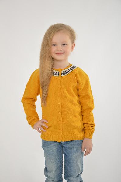 свитер trasluz для девочки, желтый