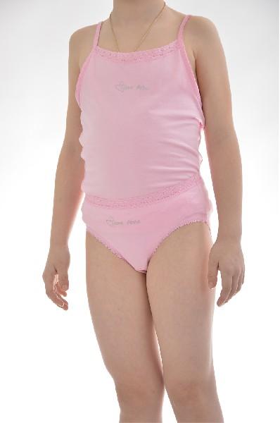 майка arina ballerina для девочки, розовая