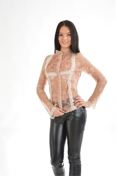 женская блузка etincelle, бежевая