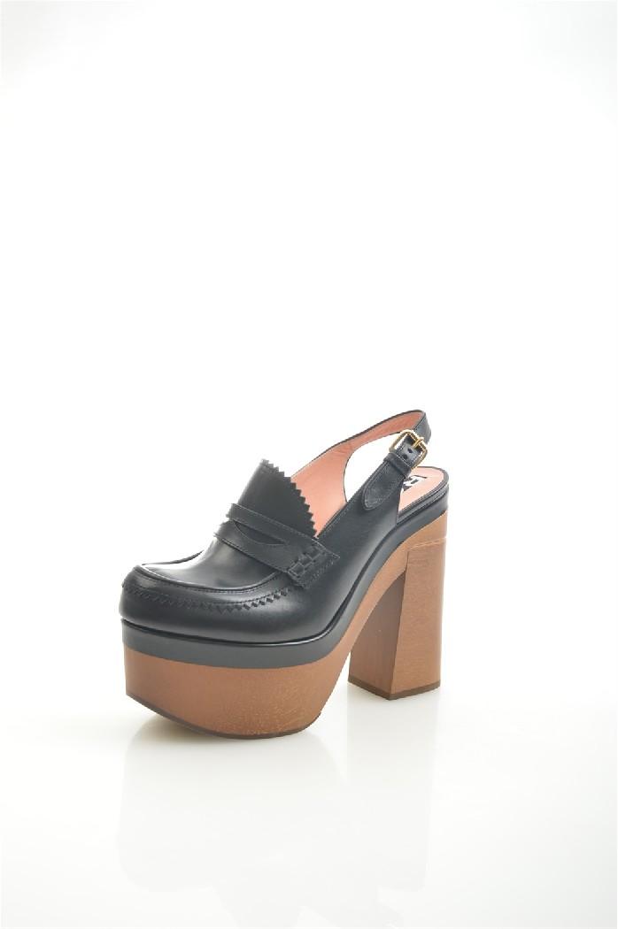 женские туфли на каблуке rochas, черные