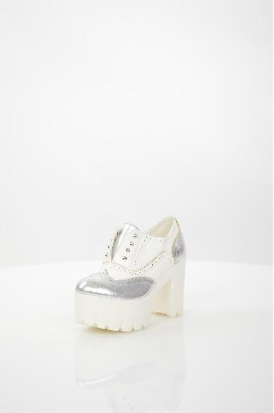 женские ботильоны на каблуке fiori&spine, белые