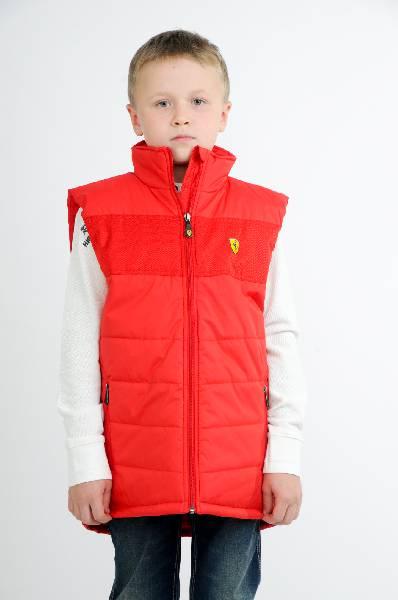 жилет ferrari для мальчика, красный