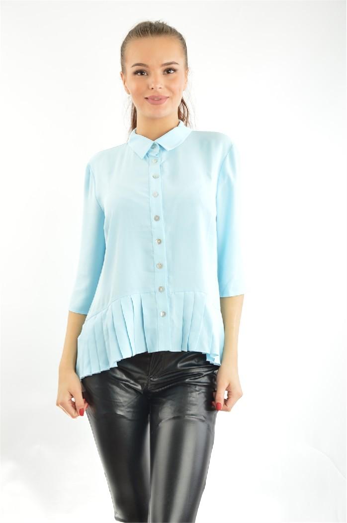 женская блузка vitacci, голубая