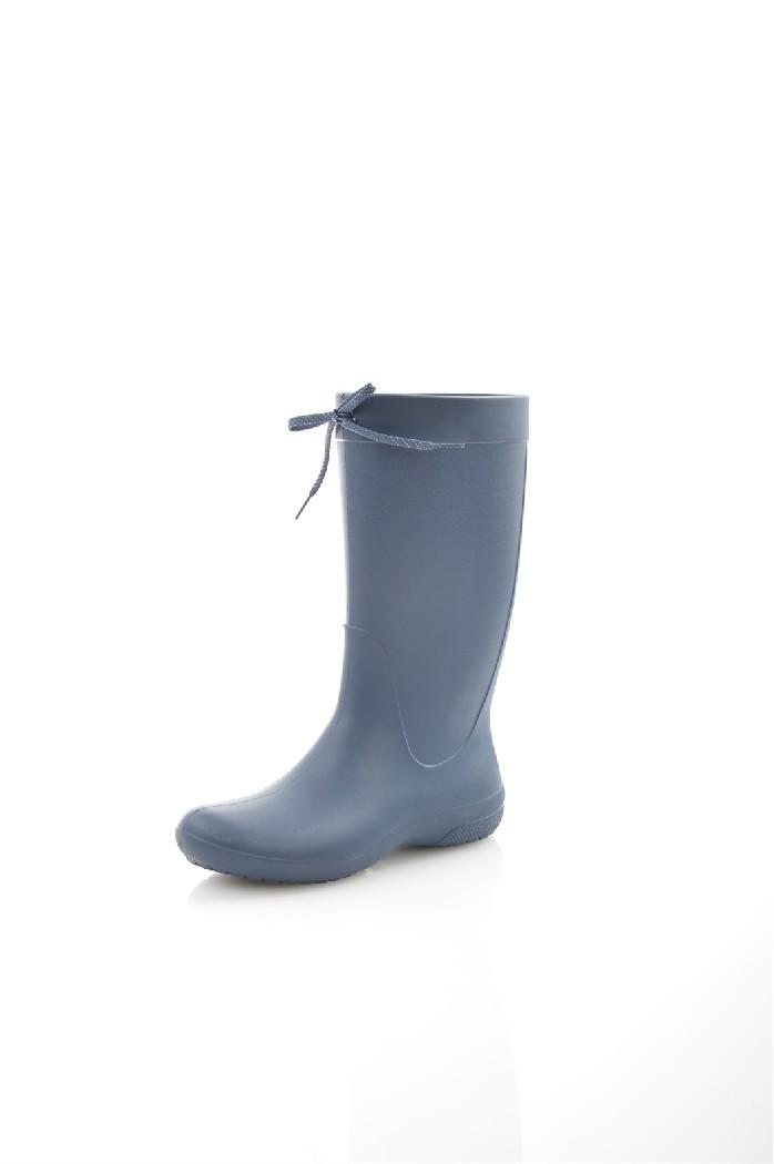 женские резиновые сапоги crocs, синие