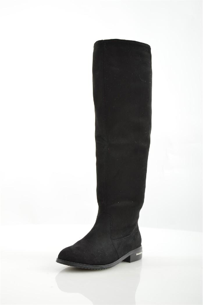 женские ботфорты на каблуке elche, черные