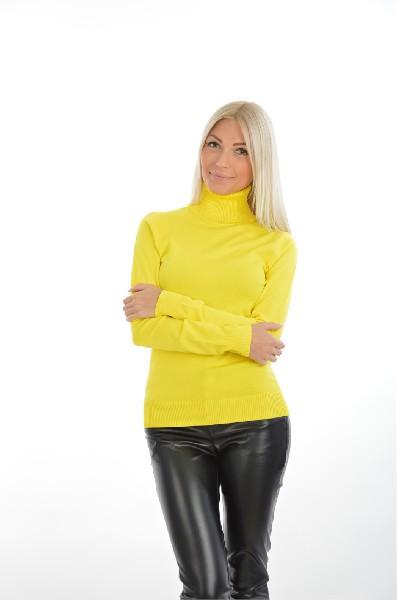женская водолазка bestia, желтая