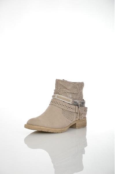 женские сапоги на каблуке jana, серые