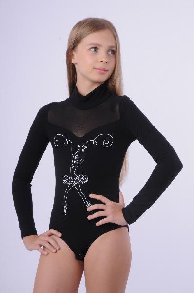 боди arina ballerina для девочки, черные