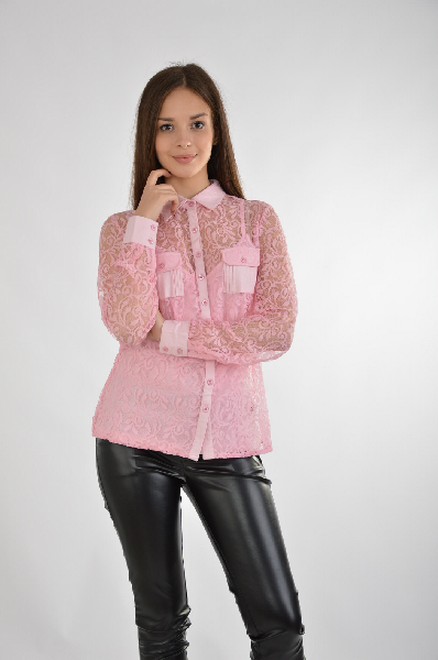 женская блузка best connections, розовая