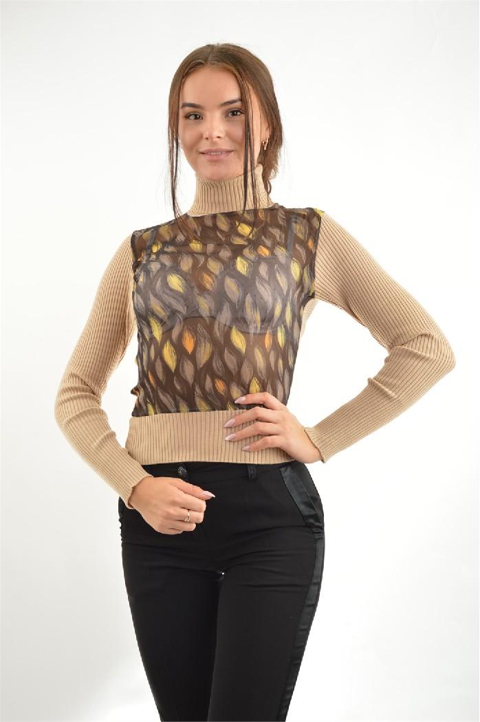 женская водолазка john richmond, коричневая