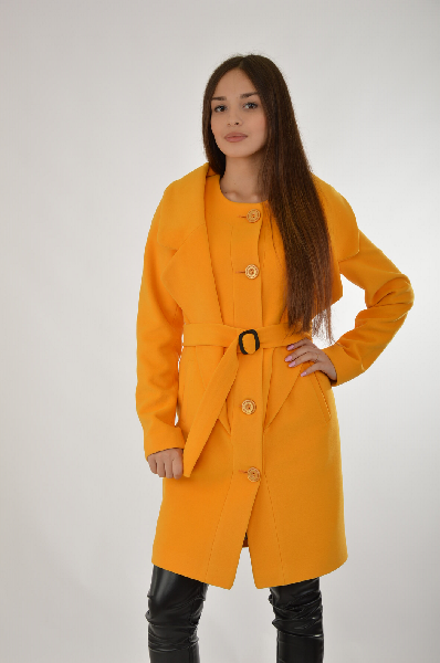 женское пальто klimini, желтое
