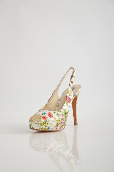 женские босоножки на каблуке roberto botella, разноцветные