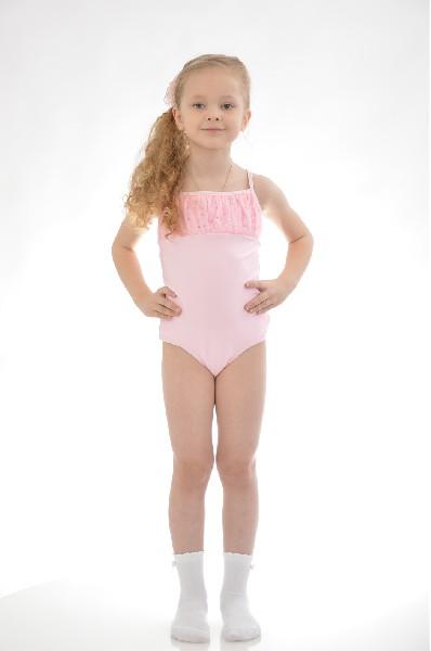 купальник arina ballerina для девочки, розовый