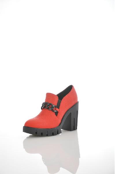 женские ботильоны на каблуке just couture, красные