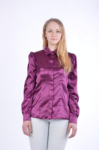 женская блузка gf ferre, бордовая