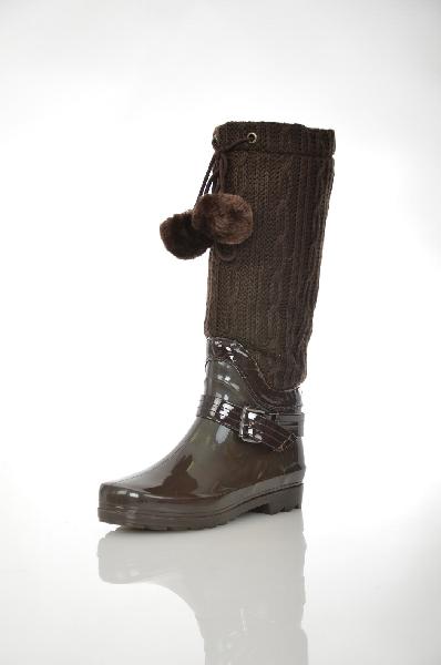 женские сапоги на каблуке cooper, коричневые