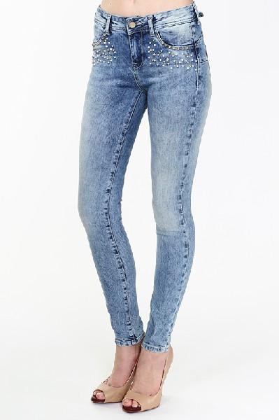 женские джинсы gaudi, голубые