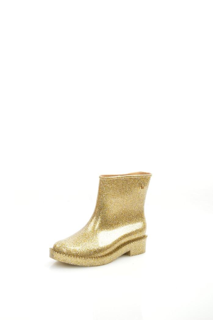 женские резиновые сапоги melissa, золотые