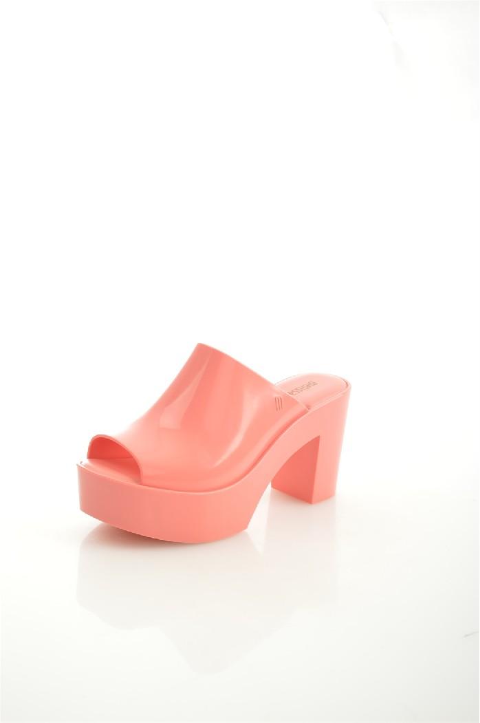 женское сабо на каблуке melissa, розовое