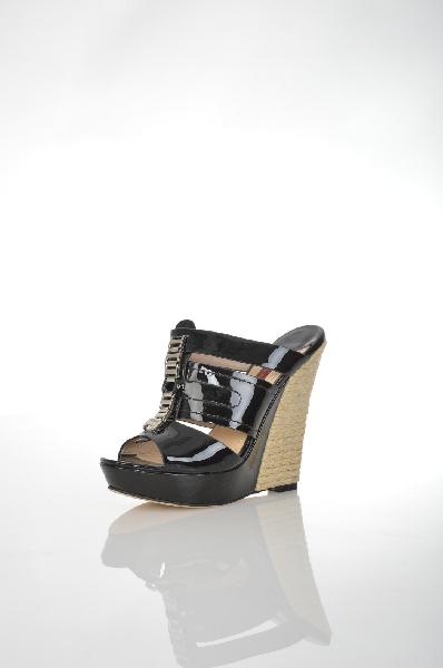 женское сабо на каблуке renaissance, черное