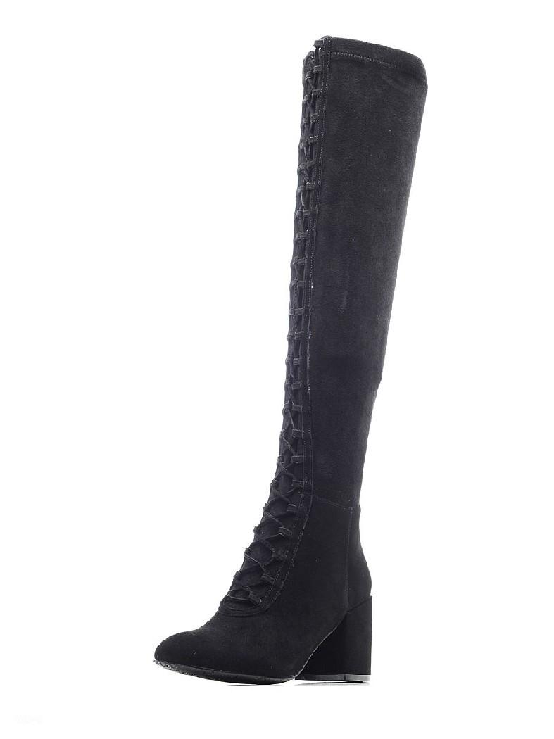 женские ботфорты на каблуке dino ricci, черные