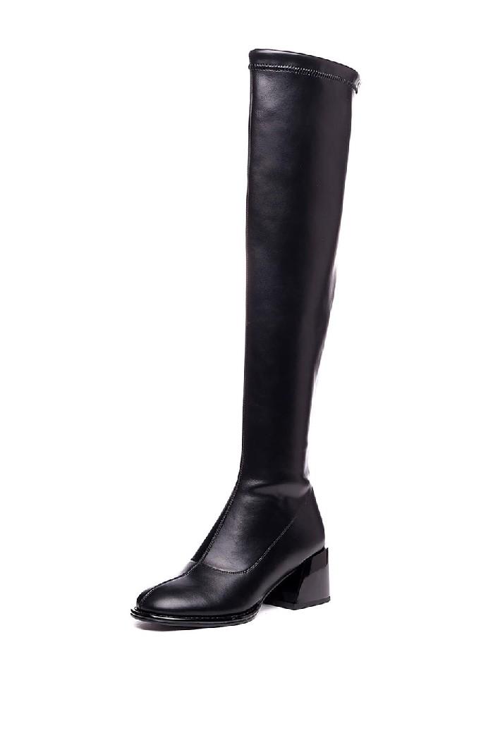 женские ботфорты на каблуке vitacci, черные