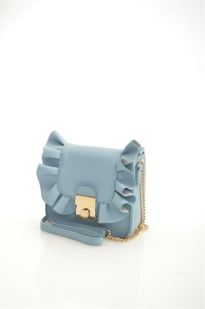 женская сумка zarina, голубая