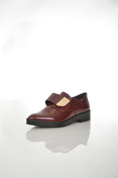 женские ботинки на платформе aldo, бордовые