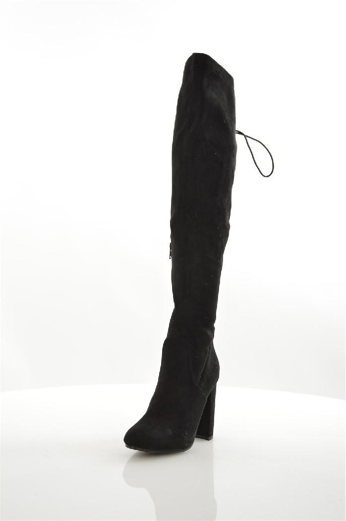 женские ботфорты на каблуке go-go, черные