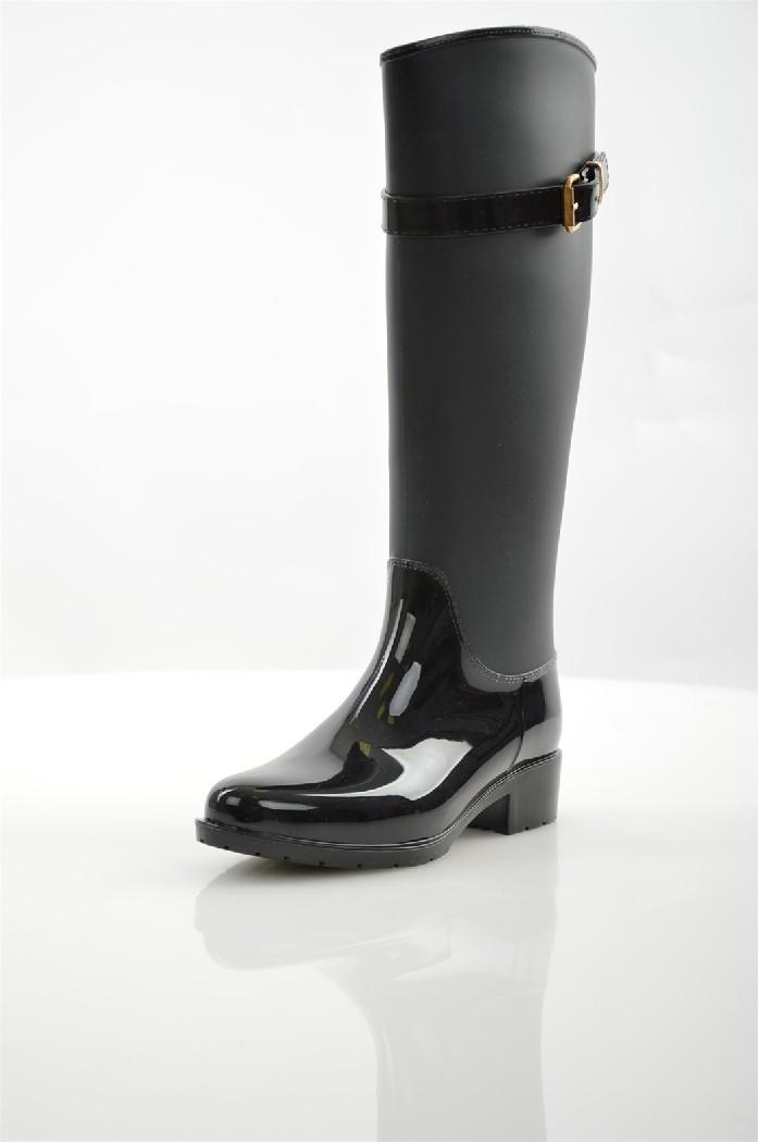 женские сапоги на каблуке alba, черные