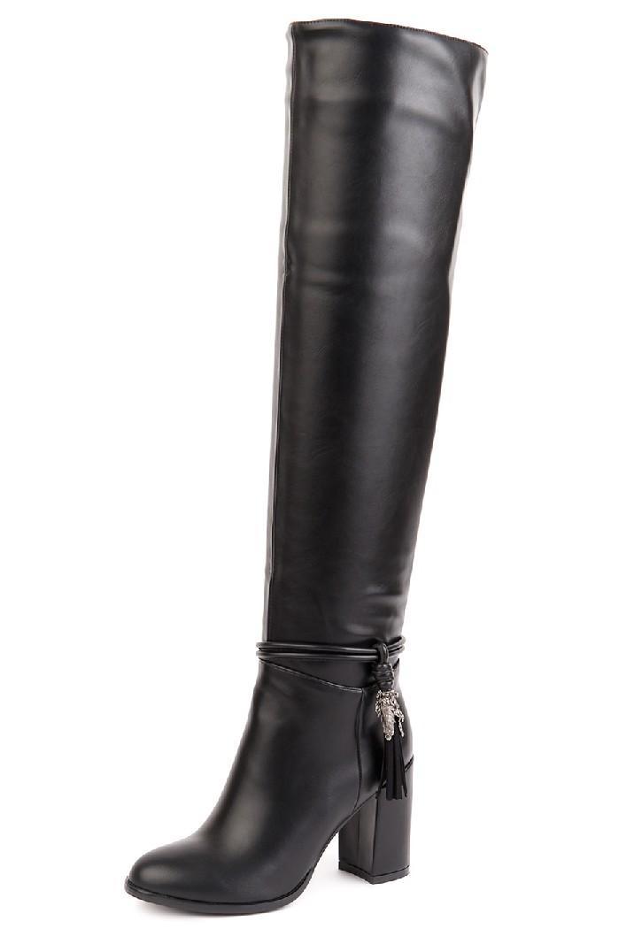 женские ботфорты на каблуке vita ricca, черные