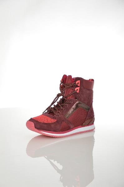 женские кроссовки aldo, бордовые