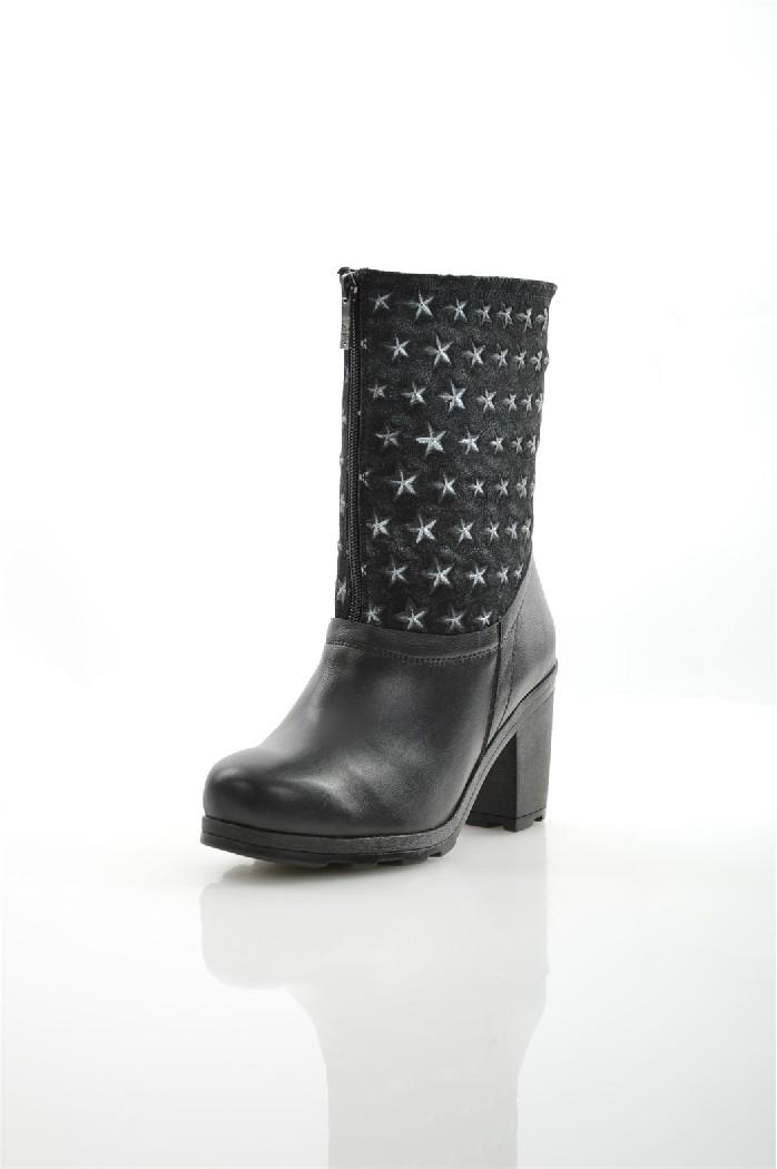 женские сапоги на каблуке svetski, черные