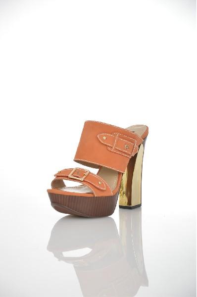 женское сабо paolo conte, коричневое