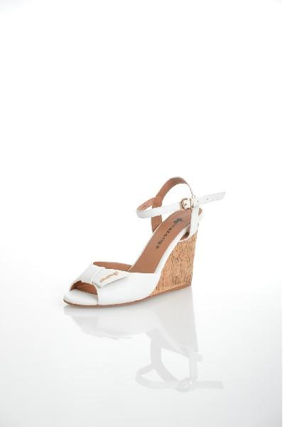 женские босоножки на каблуке amazonga, белые