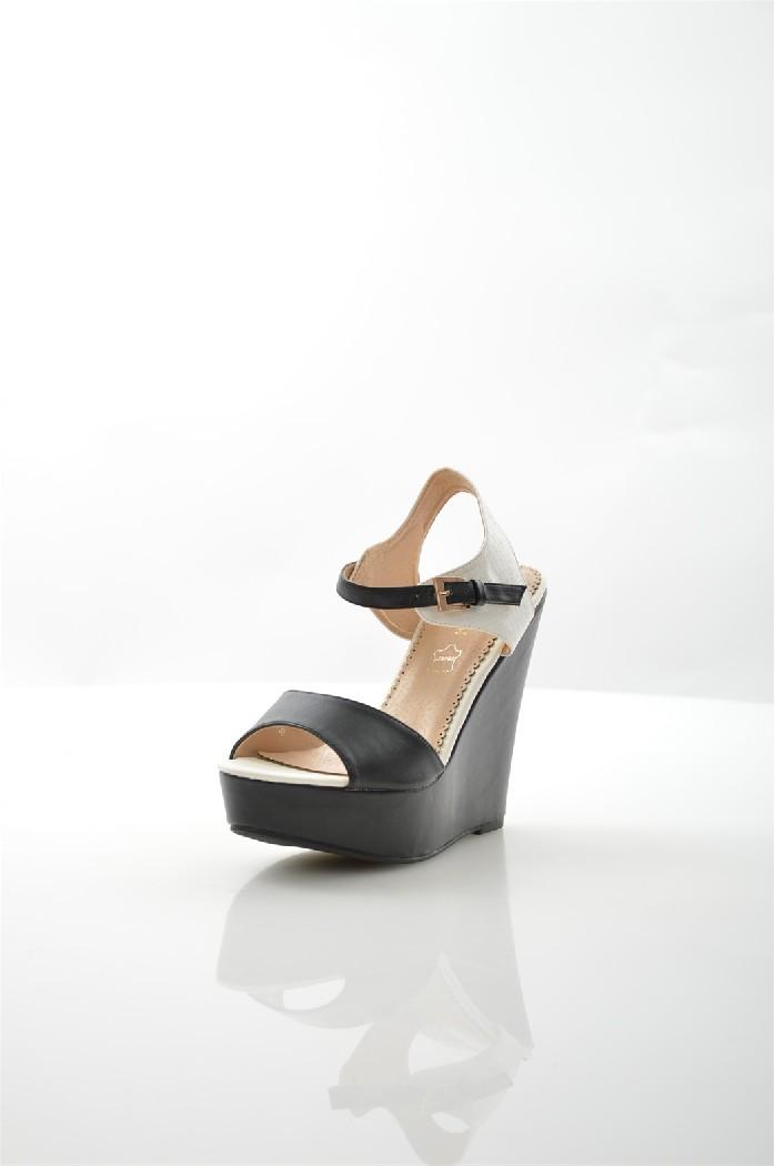 женские босоножки на каблуке item black, черные