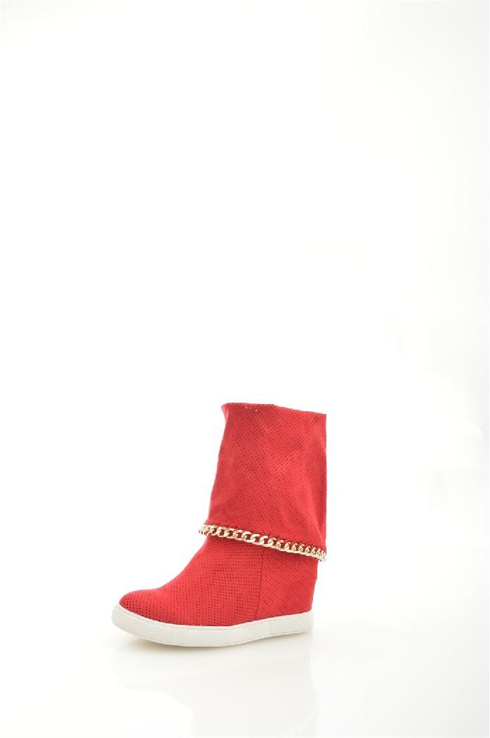 женские полусапожки на каблуке bellamica, красные