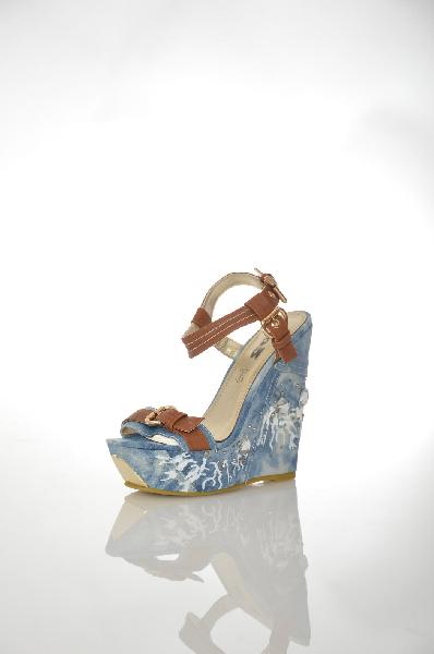 женские босоножки на платформе 1to3, голубые
