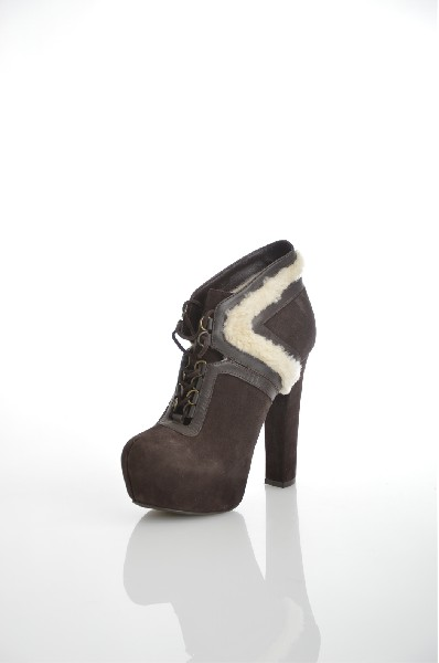 женские ботинки на каблуке klimini, коричневые