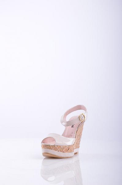 женские босоножки на каблуке klimini, кремовые