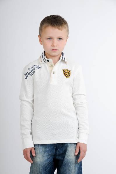 поло iana для мальчика, белое